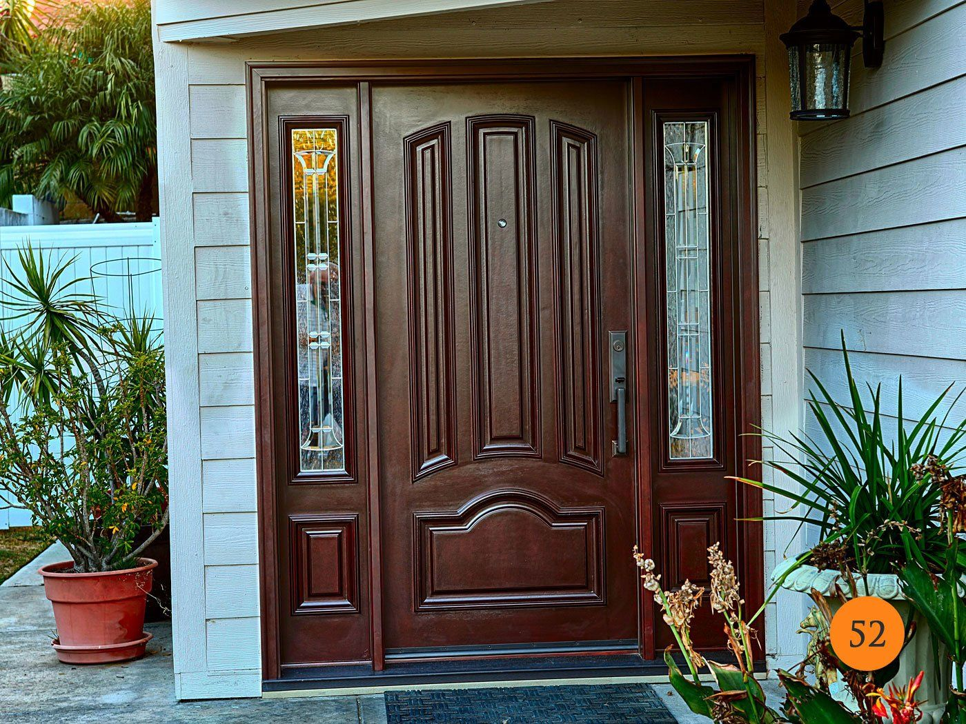 Innovative Entry Doors With Sidelightstodays Entry Doors In 2020 Fiberglass Entry Doors Entry Doors Residential Front Entry Doors