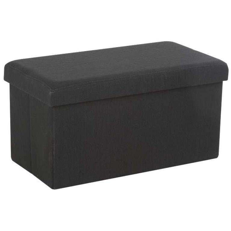banc coffre de rangement pliant gris