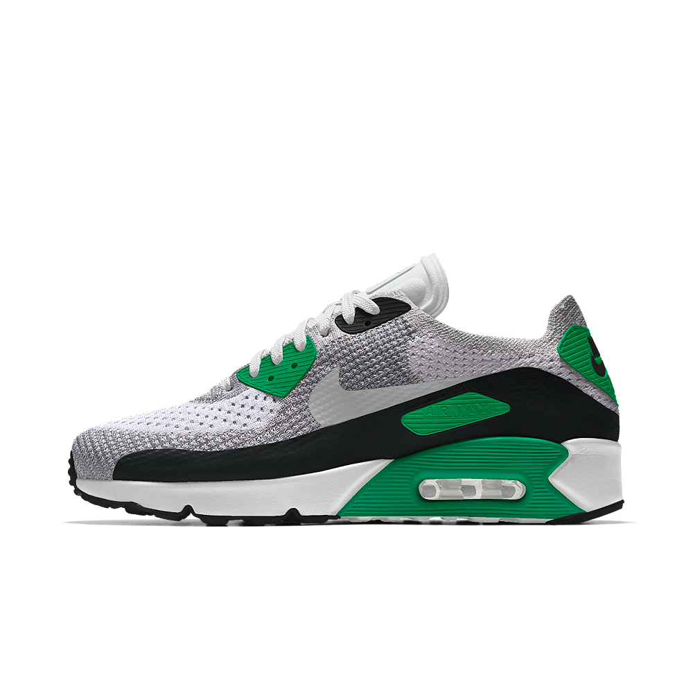 1d2cd57e4e09 Nike Air Max 90 Ultra 2.0 Flyknit iD Men s Shoe Size 12.5 (Green ...