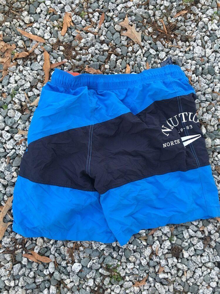 fc979c0390633 VINTAGE Nautica Swim Trunks Lined Shorts Adult Large White Blue Color Block  90 #fashion #clothing #shoes #accessories #mensclothing #swimwear (ebay  link)