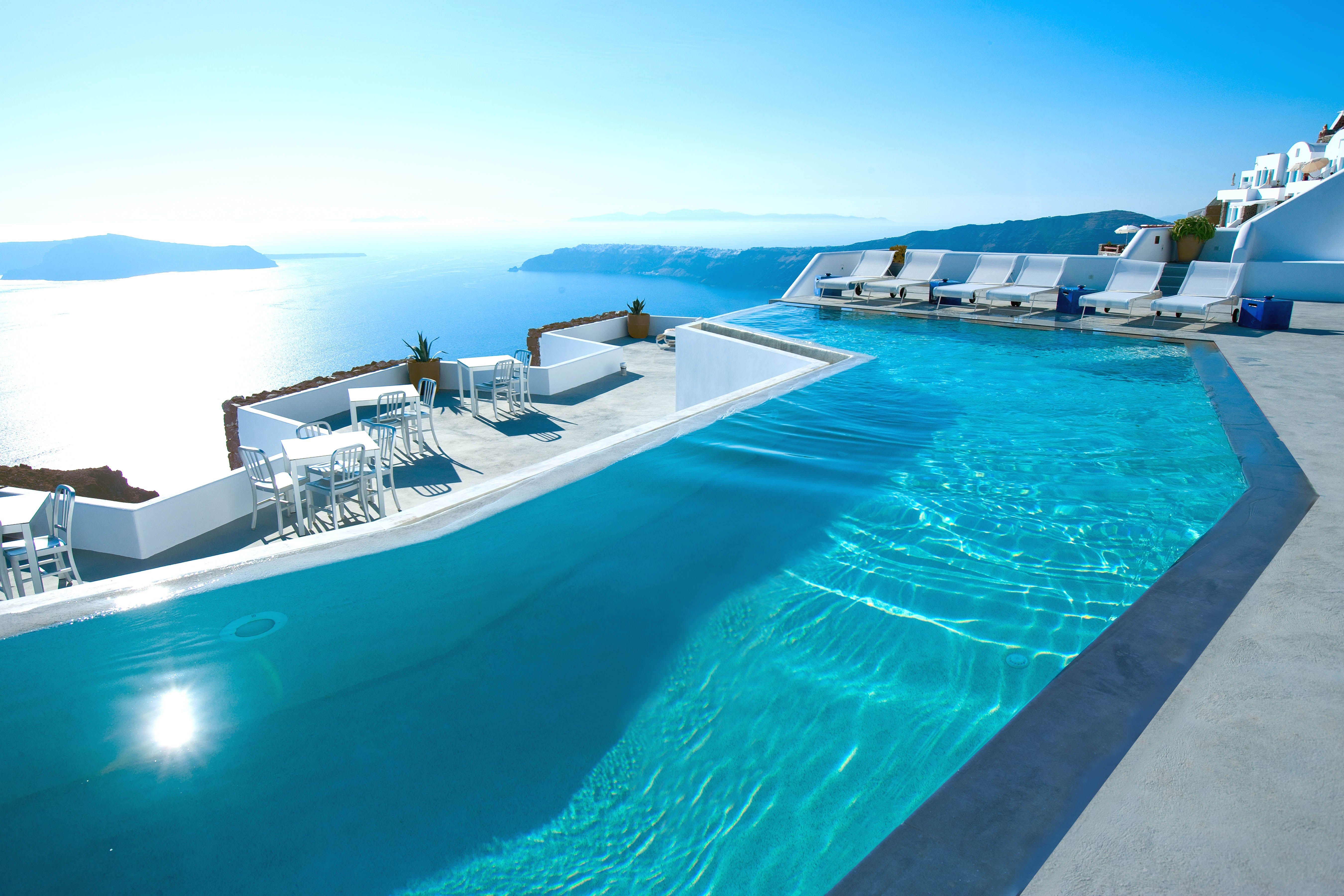 An Exclusive Peek at the Gorgeous Renovation of Santorini's Grace Hotel