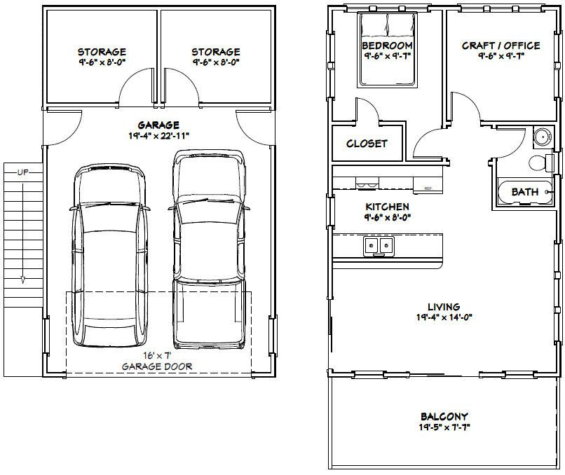The Ideas Of Using Garage Apartments Plans: PDF House Plans, Garage Plans, & Shed Plans.