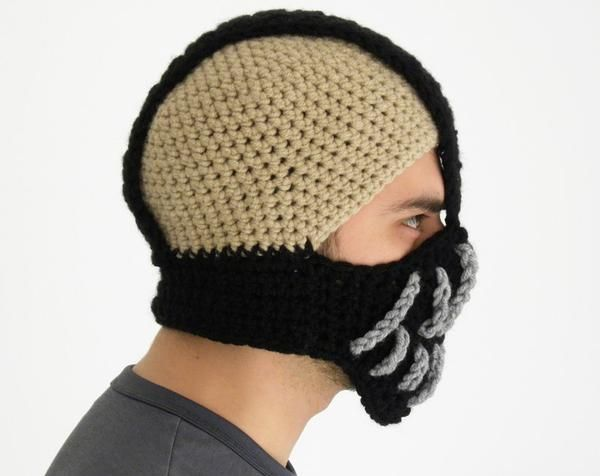 Crochet Batman Hat The Batman Bane mask styled crochet ...