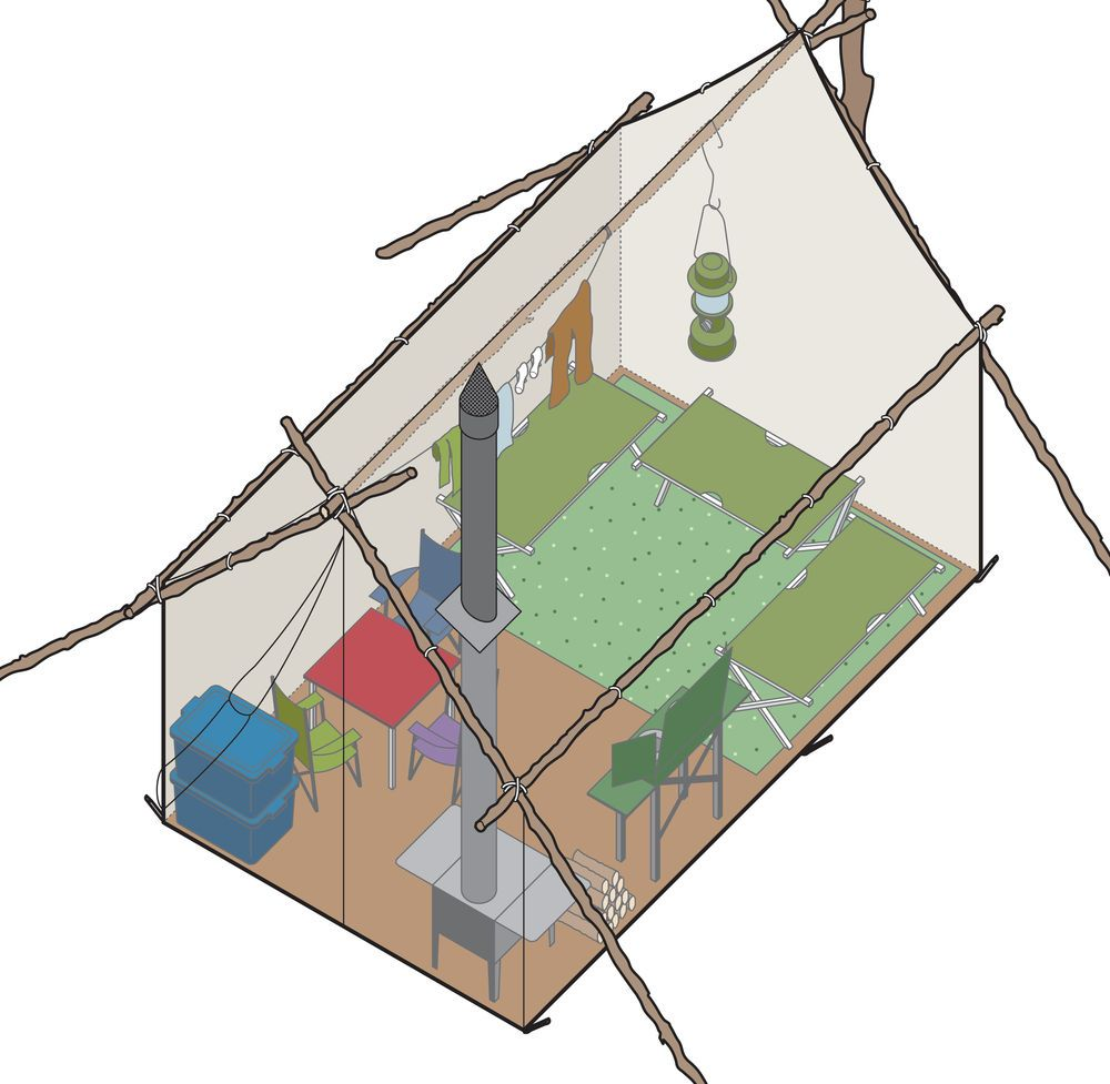 Need to build a tent c& but donu0027t know where to start? Here  sc 1 st  Pinterest & Need to build a tent camp but donu0027t know where to start? Here is a ...