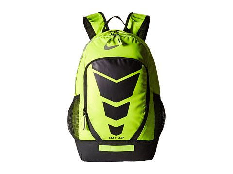 d8865823cb9673 Nike Max Air Vapor Backpack Large Volt Black Metallic Silver - Zappos.com  Free Shipping BOTH Ways