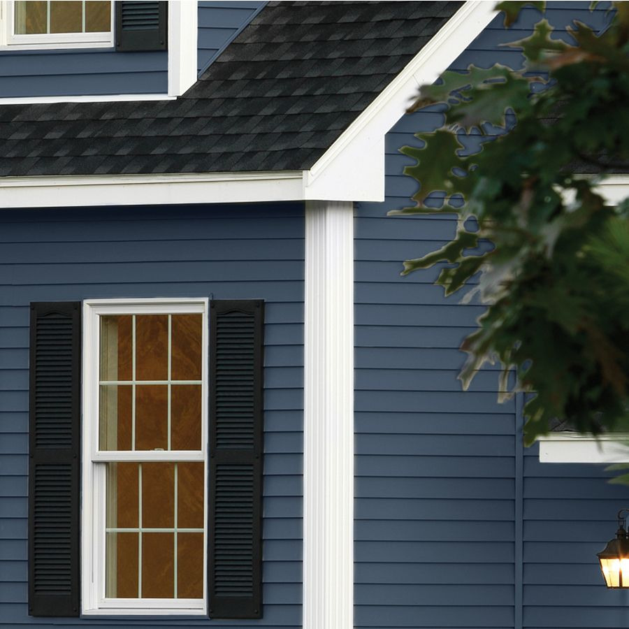 Georgia Pacific Compass Vinyl Siding Panel Double 4 Traditional Bayou Blue 8 In X 150 In Lowes Com Exterior House Siding Vinyl Siding House House Exterior Blue