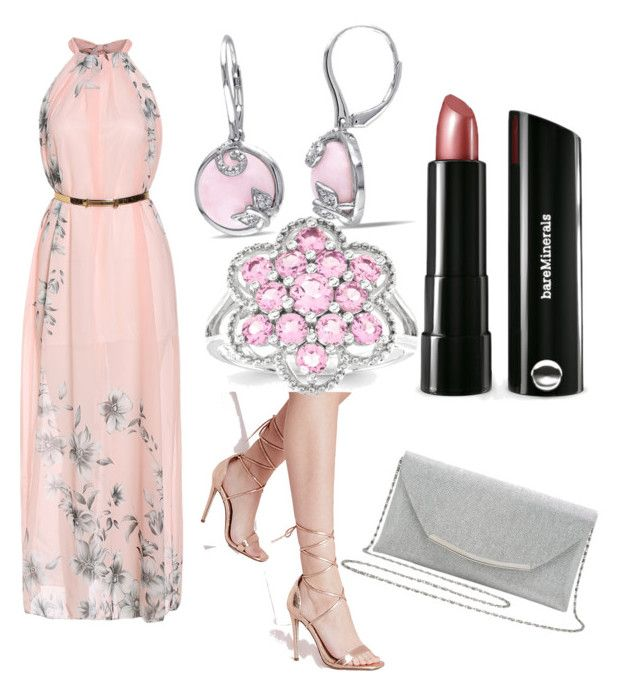 """""""Spring Treat"""" by katiebumbar on Polyvore featuring Missguided, M&Co, Bare Escentuals, Amour, Kevin Jewelers, women's clothing, women's fashion, women, female and woman"""