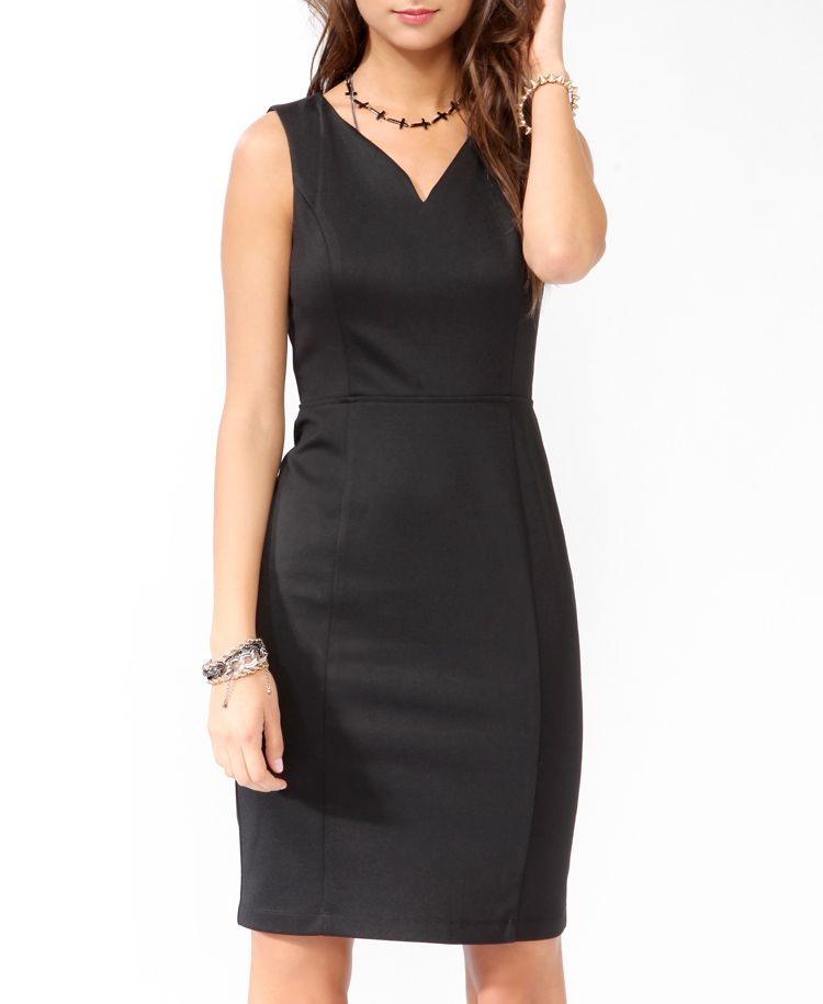 Slit Back Sheath Dress Forever21 So Cute No Reviews So Might