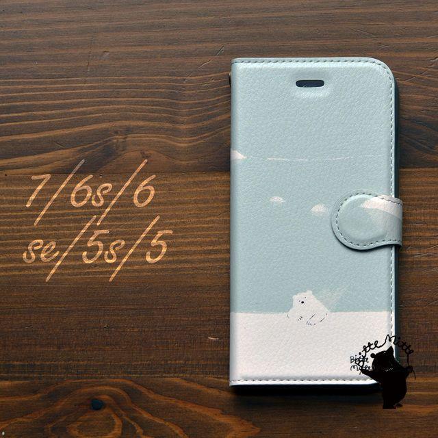 621fbd2e13 iPhone7 iPhone6s/6 iPhone SE iPhone5s/5 ケース 手帳【iPhoneケース/アイフォン7/アイフォン6s/手帳型 /シロクマ】