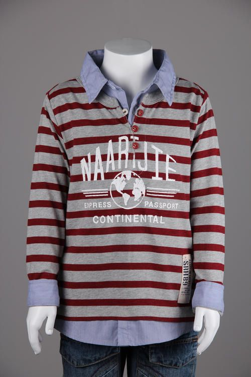 Top - Striped with Mock Shirt