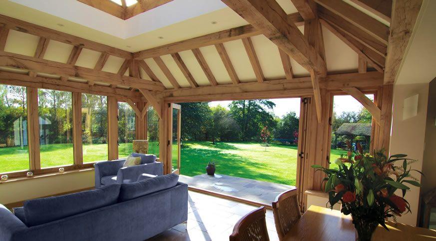 Orangeries Oak Framed Orangery Garden Room Extensions Barn Conversion Exterior Timber Frame Homes