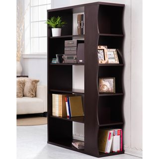 Furniture Of America Sydney Modern Walnut Bookshelf Room Divider
