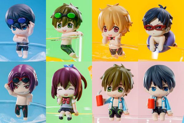 Iwatobi Swim Club Deformed Mini Figurine Matsuoka Rin Takara Tomy Free Free