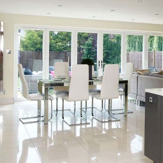 Extensions Love This Chic Dining Room With Bi Fold Doors