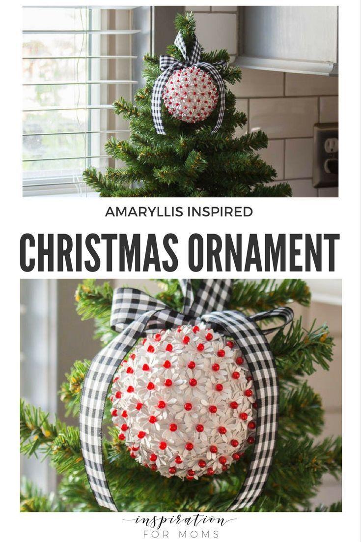 Elegant Handmade Christmas Ornaments.Diy Amaryllis Inspired Christmas Ornament Christmas Decor