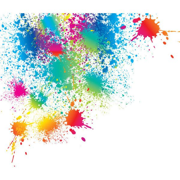Make A Splash With The Bright Color Splatter Vector Ideal As A