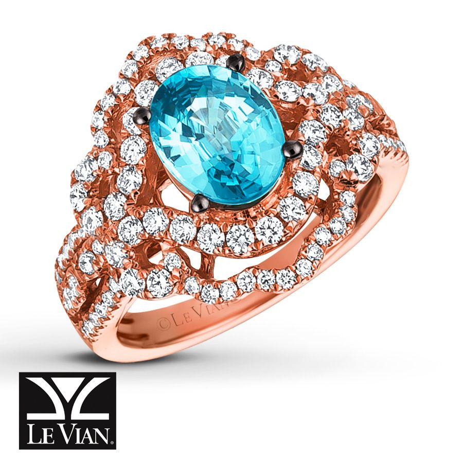 This Fabulous Ring From Le Vian® Balances Color And Brilliance With A  Blueberry Zircon™
