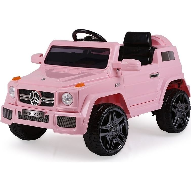 Rovo Kids Ride On Car Mercedes G65 Inspired Electric Toy Battery Remote Pink Toy Cars For Kids Baby Car Toy Baby Dolls For Kids