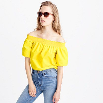 A pretty off-the-shoulder top (you'll be seeing a lot