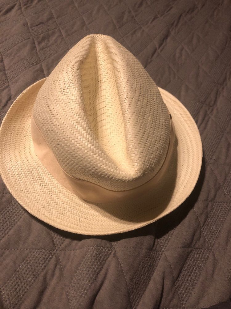 3cf439a9d68 NWT Michael Stars Ivory Short Brim Uptown Panama Hat One Size Adjustable  Small   fashion