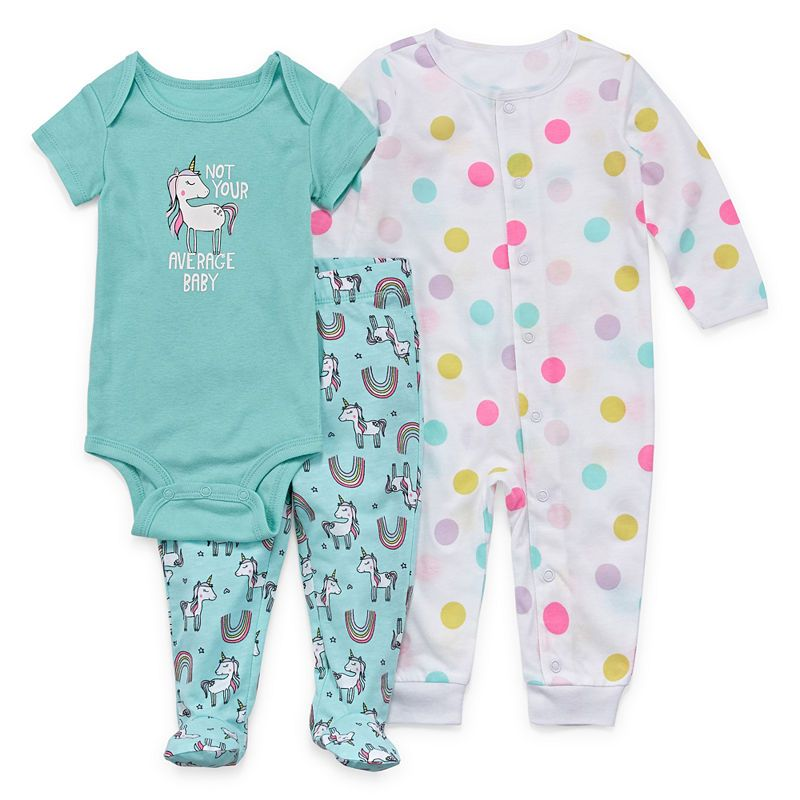 Okie Dokie 3 Pc Bodysuit Set Baby Girls Baby Girl Clothes Cute Outfits For Kids Kids Outfits