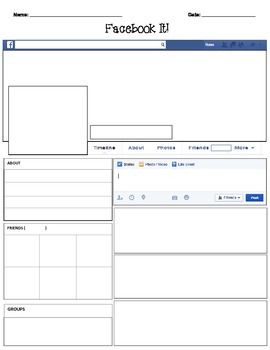 facebook template - blank | students, Powerpoint templates