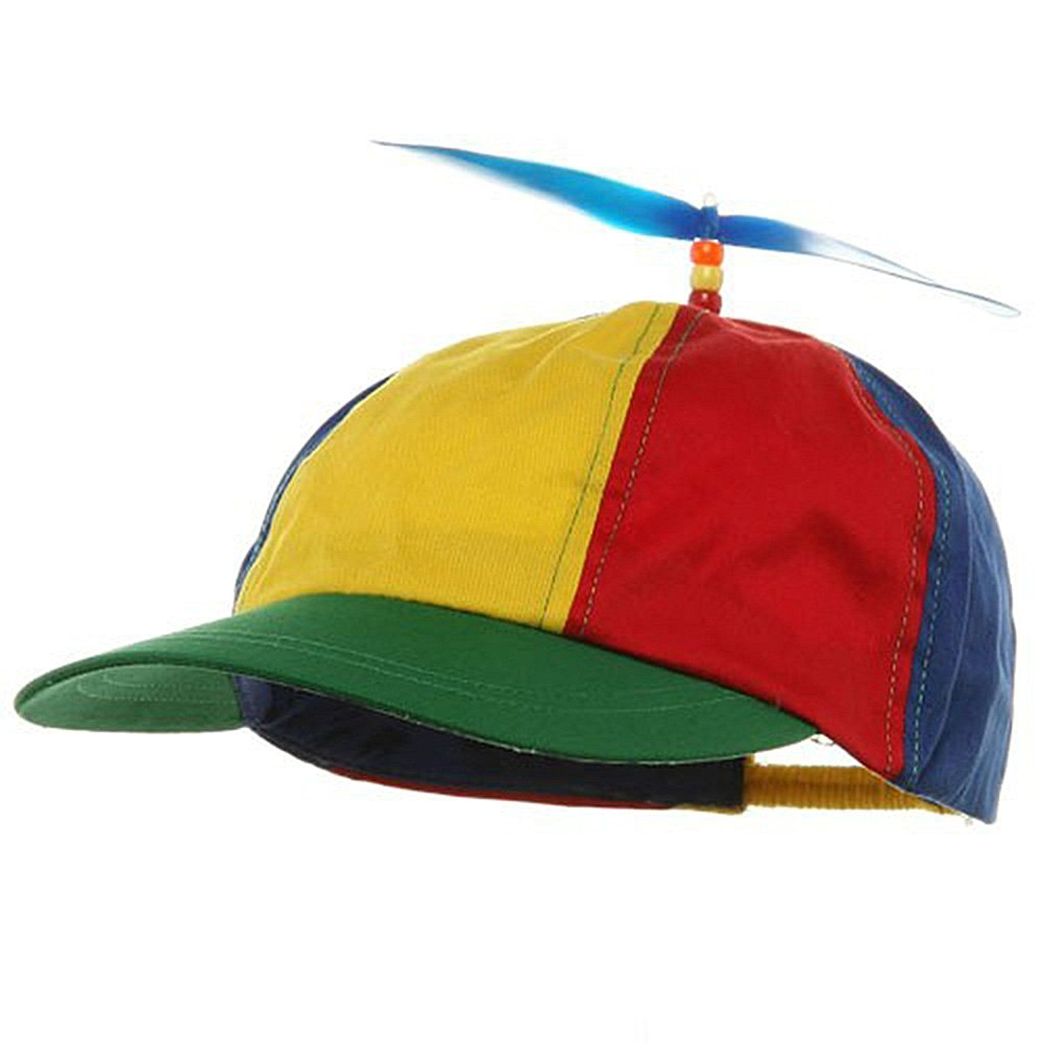 BLUE PROPELLER CAP HAT BEANIE ADULT HALLOWEEN COSTUME ACCESSORY