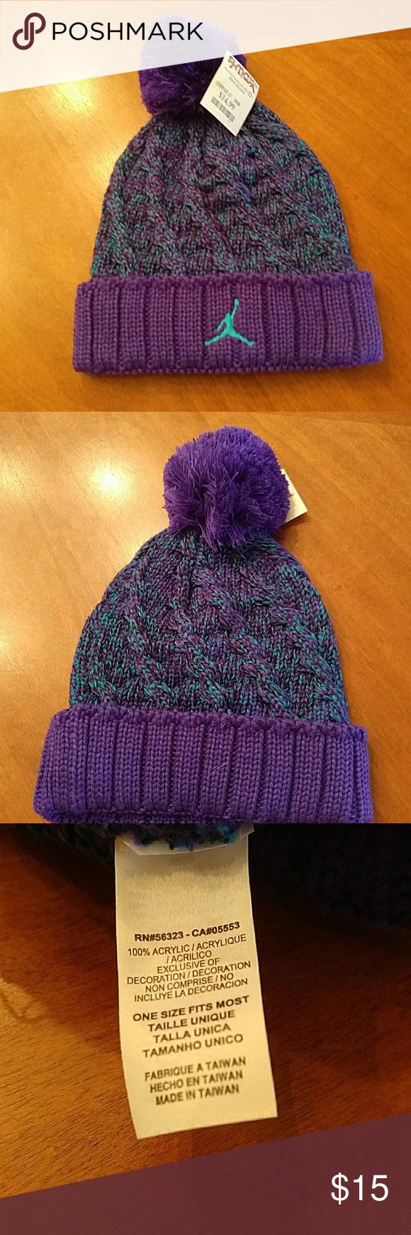 049ad6dd7ae Jordan hat purple teal Never worn Jordan Accessories Hats