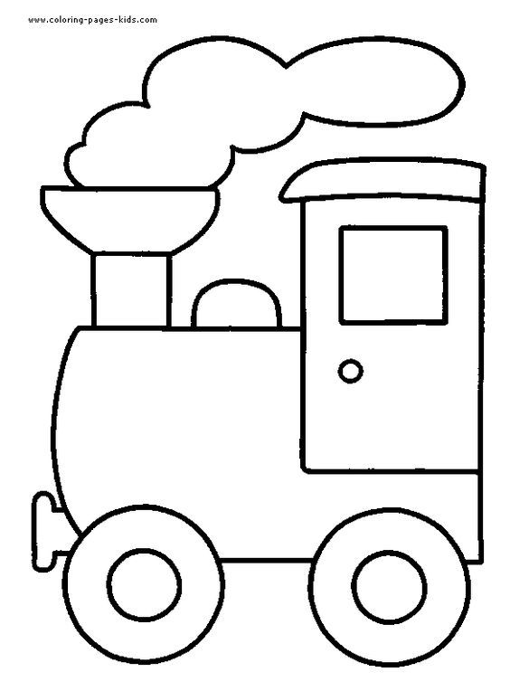 Train Color Page Transportation Coloring Pages Color Plate