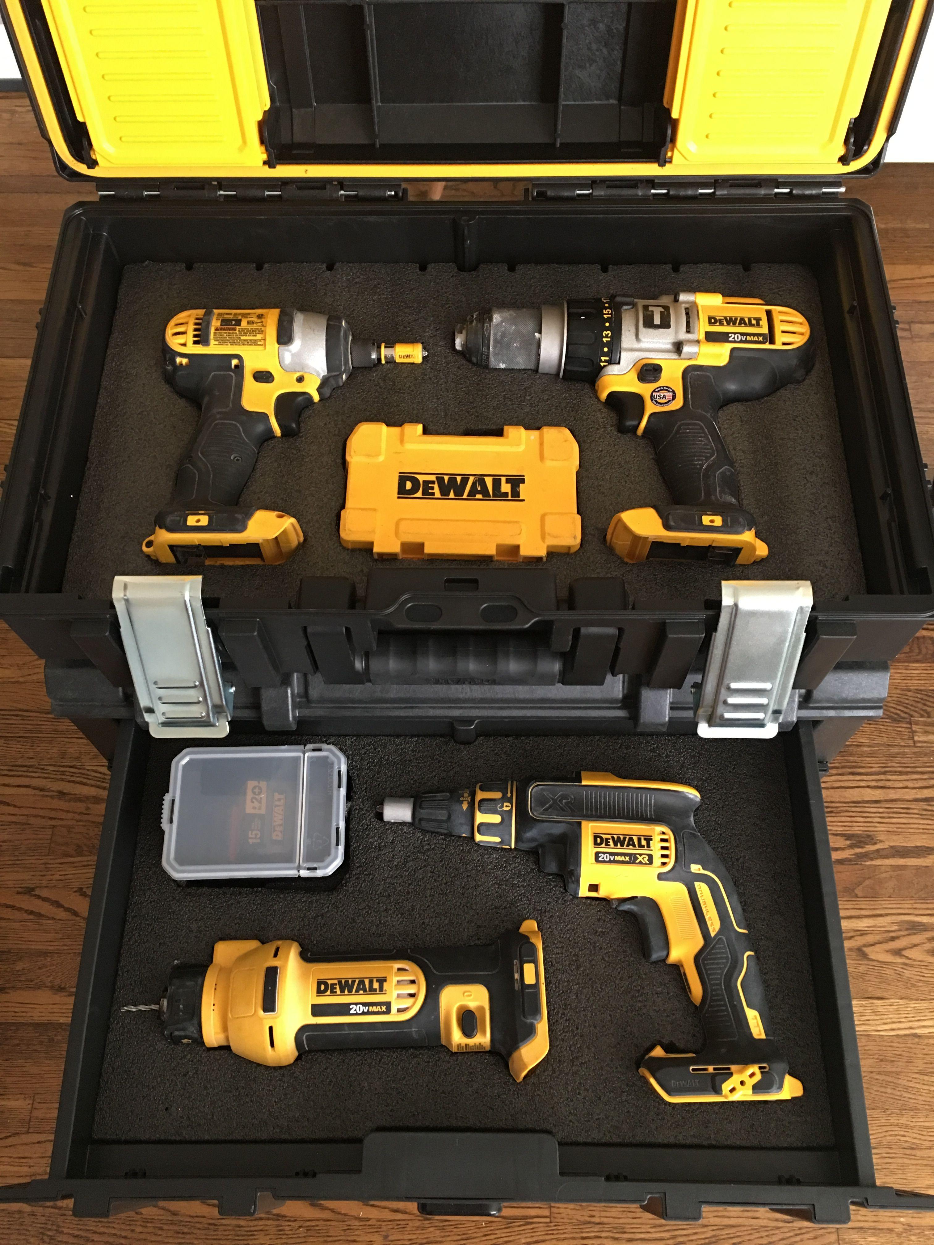 Dewalt Tough System With Kaizen Inserts Dewalt Tough System Dewalt Woodworking Power Tools