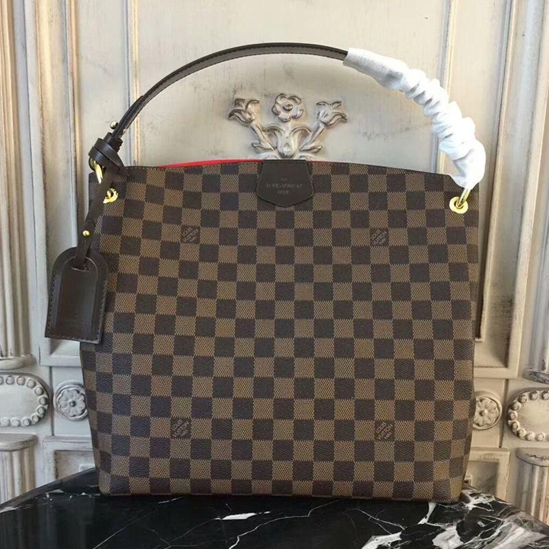95d906a46ebb Louis Vuitton Graceful PM N44044 Damier Ebene Canvas