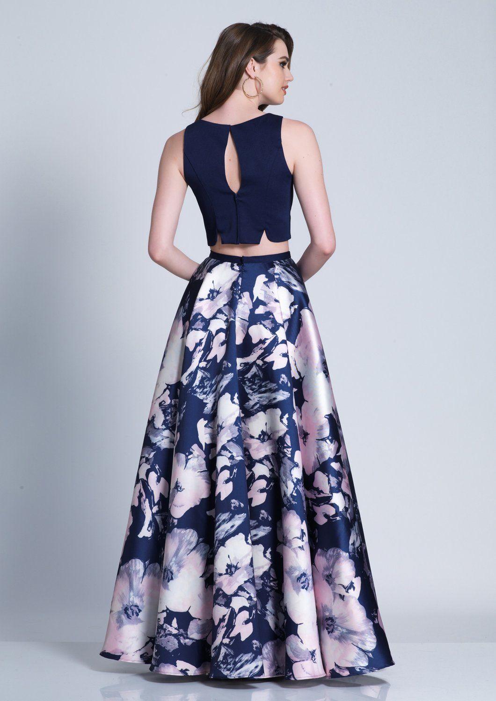 b3f5242c34f5 Diggz Prom DJ 3499 - Two-Piece Long Print Prom Dress - Diggz Prom ...