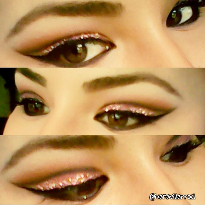 Pretty in pink :-) #makeup #glitter #ivamakeup