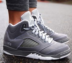 womens air jordan 5 wolf grey