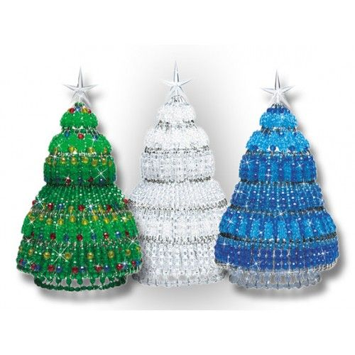 Mary Maxim Beaded Safety Pin Christmas Tree Kit Kits