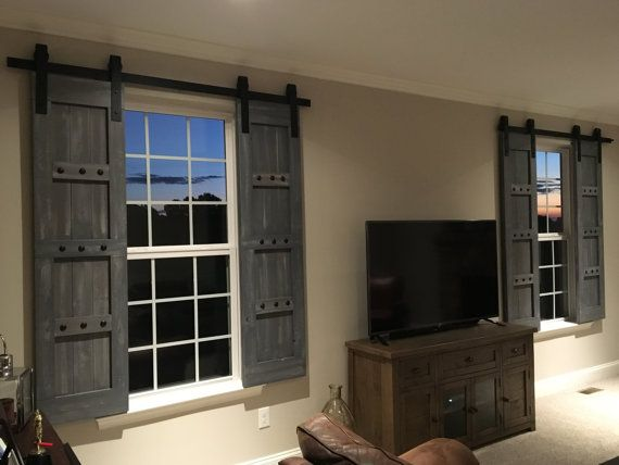 Barn Style Shutters Window Barn Doors Sliding Shutters Etsy Interior Windows Home Remodeling Rustic House