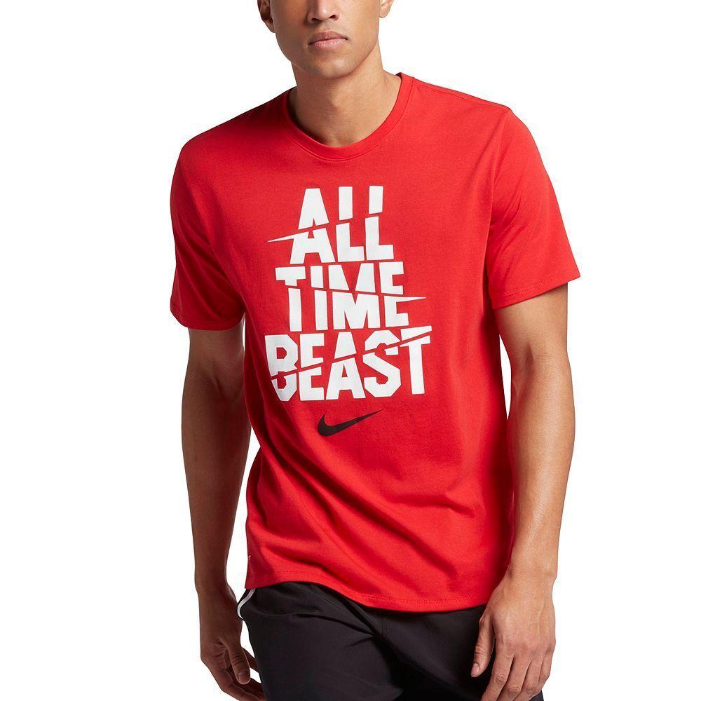 Men's Nike All Time Beast Dri FIT Tee | Nike men, T shirt