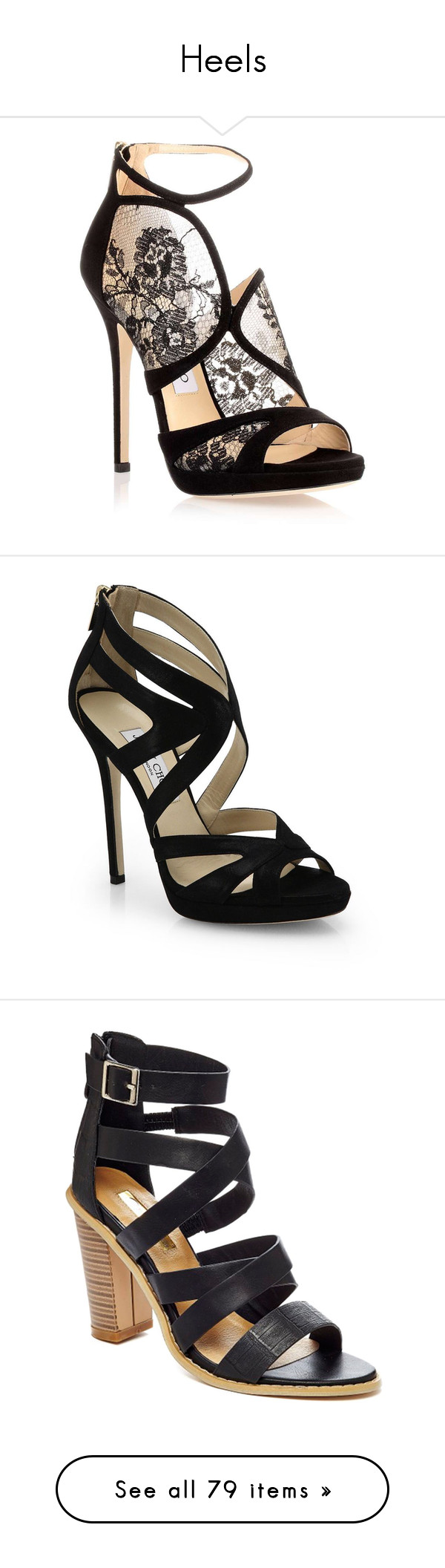 """""""Heels"""" by welcometoweirdschool on Polyvore featuring shoes, sandals, heels, high heels, sapatos, black shoes, black platform shoes, heeled sandals, high heel sandals and platform heel sandals"""