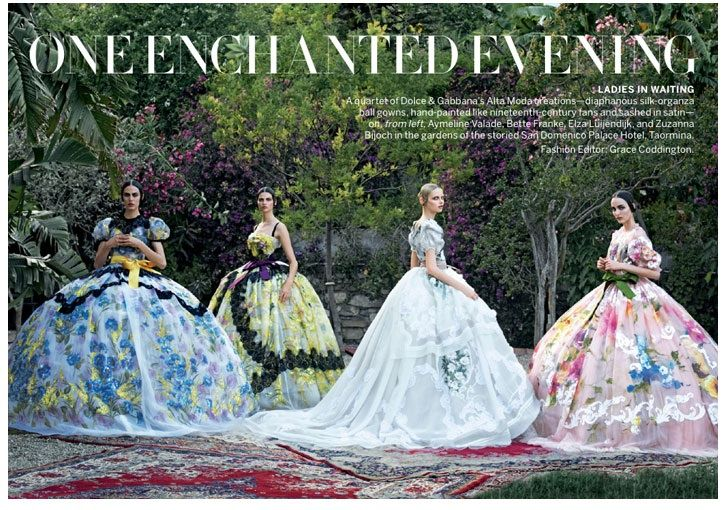 Dolce and Gabbana Couture Vogue US