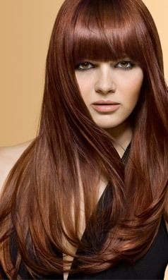 Love The Color And Style Chestnut Hair Copper Brown Hair