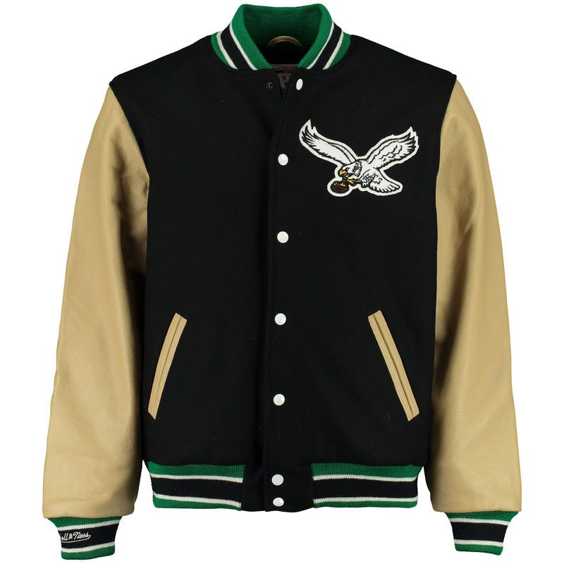 5c69b57de Philadelphia Eagles Mitchell & Ness NFL Wool/Leather Varsity Jacket ...
