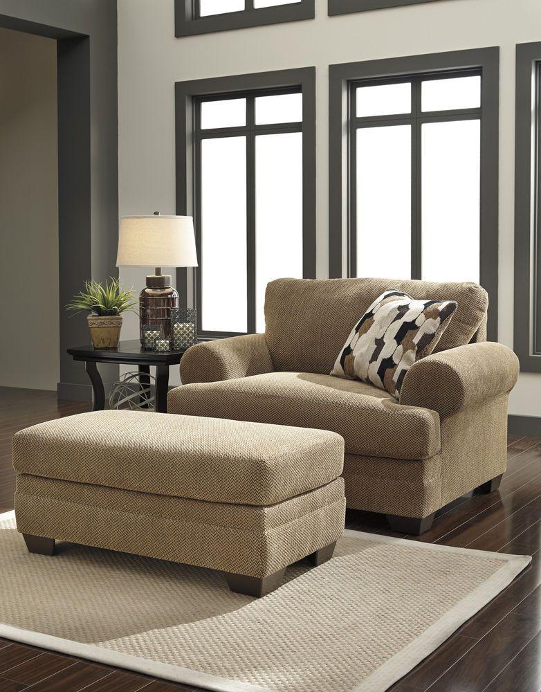 Autumn Chair And A Half Ottoman Living Room Set 2pc Modern