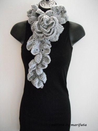 Crochet Pattern Ruffle Rose Scarf By Marifu6a Nr 09 Ruffles