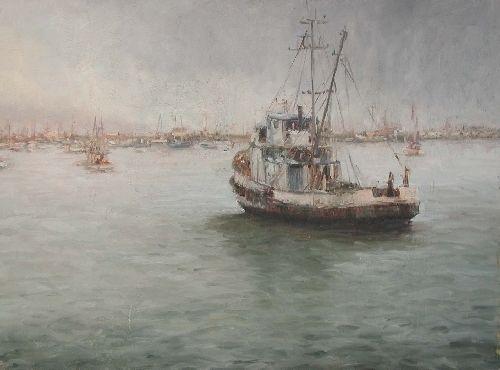 Kathleen Dunphy (American) 'Safe at Anchor'