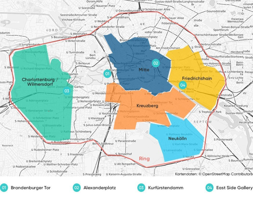 The Best Area To Stay In Berlin An Accommodation Guide Map In 2020 Berlin Berlin Accommodation Berlin Blog
