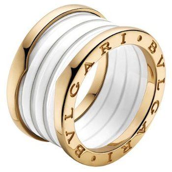 nuova collezione ffebf e3fb3 Bulgari - Anello in ceramica bianca e oro rosa | Golden ...