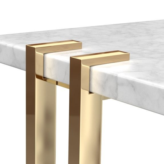 Marble Amp Brass Side Table Williamssonoma Brass Furniture Legs Metal Furniture Legs Brass Side Table
