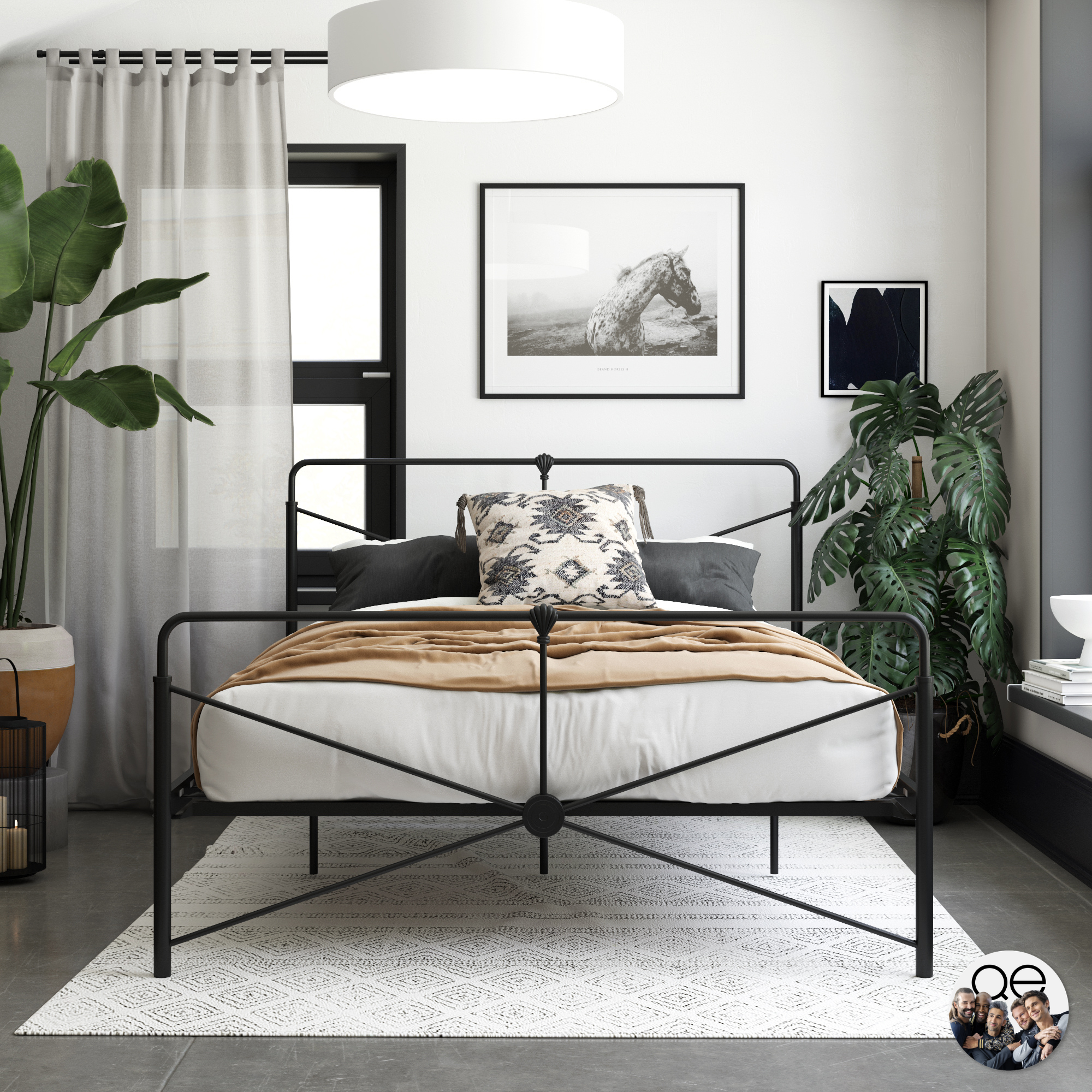 Free 2-day shipping. Buy Queer Eye Leopold Modern Metal Bed, Multiple Options Available at Walmart.com