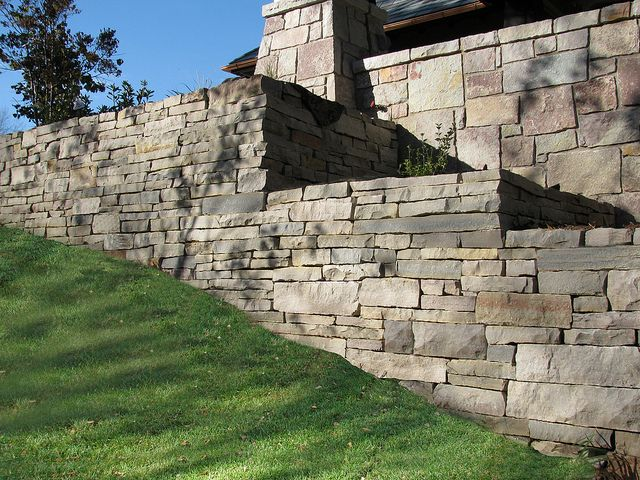 Chilton Snapped Wall Stone Natural Stone Retaining Wall Landscape Timbers Retaining Wall