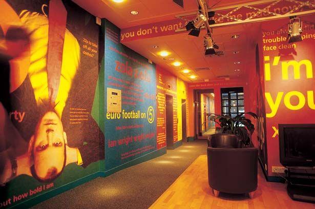 Digital print wallpaper transforms an environment.